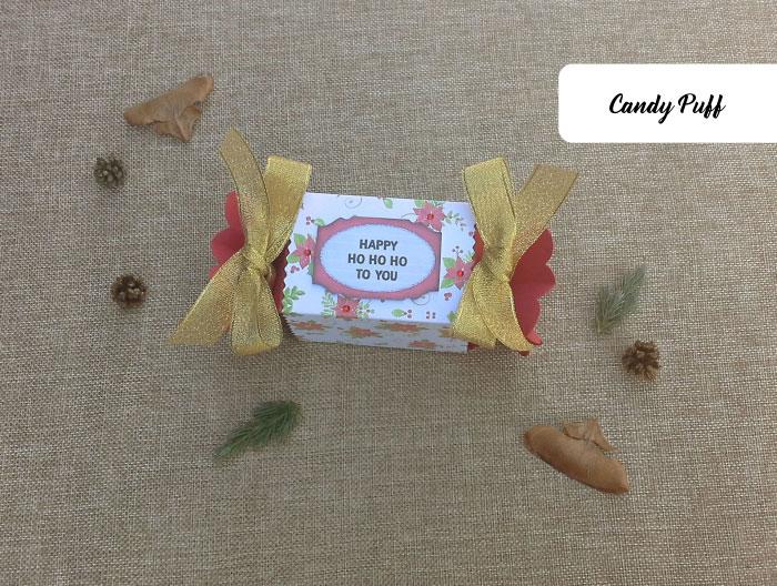 Embalagem Rebuçado para Presente com Mensagem de Natal.