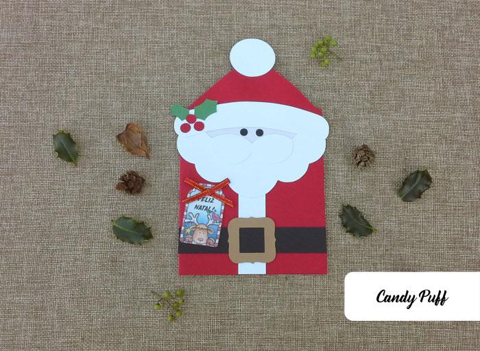 Postal de Natal criativo para mensagem