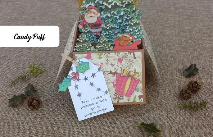 Postal de Natal original para namorados com uma mensagem romântica
