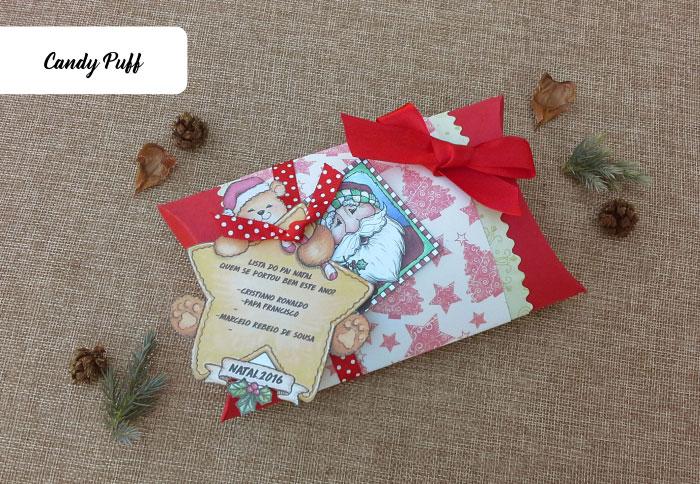 Presente de Natal personalizado com chocolates
