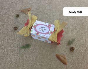 presentes com chocolates e mensagem de natal