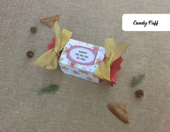 Presente com chocolates e Mensagem de Natal.