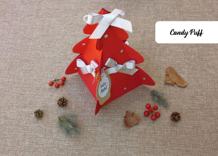 Presentes de Natal 2018 Originais e Personalizados - Embalagem Árvore de Natal com Bombons