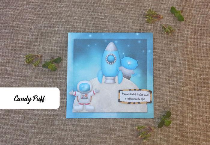 Convites de Aniversário Astronauta
