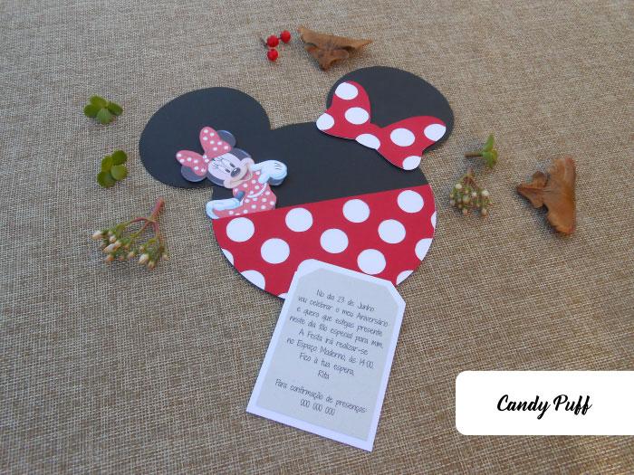 Convites de Aniversário Minnie