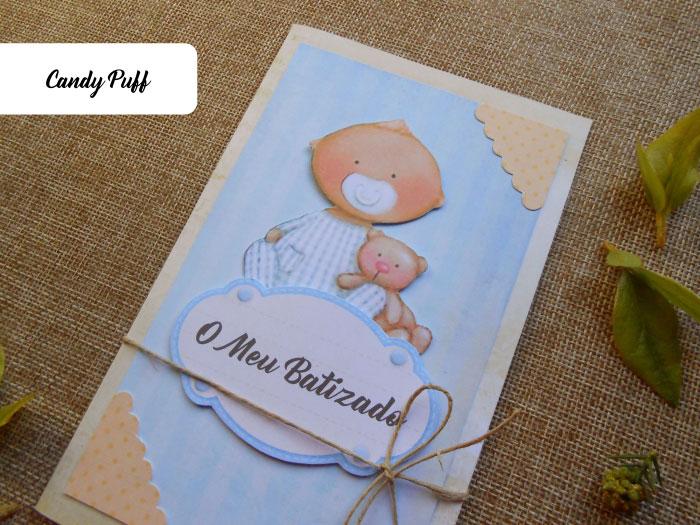 Convite de Batizado para menino com bebé