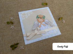 Convite de Primeira Comunhão Anjo para Menina