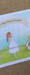 Convite Pomba Branca para Primeira Comunhão de Menina
