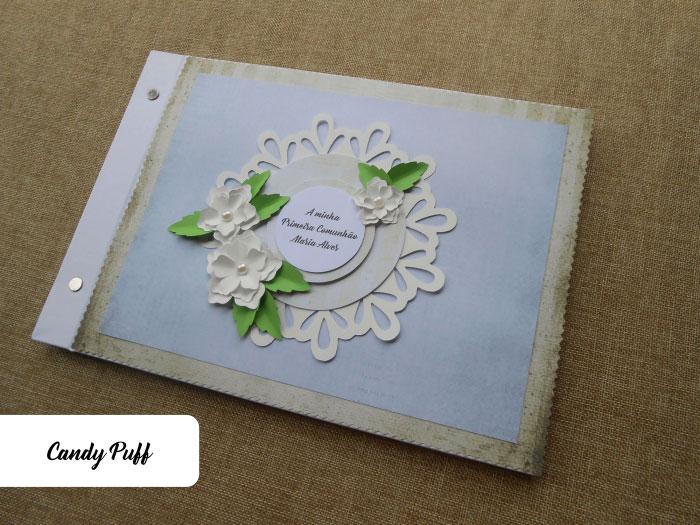 Livro de Honra Floral para a Primeira Comunhão