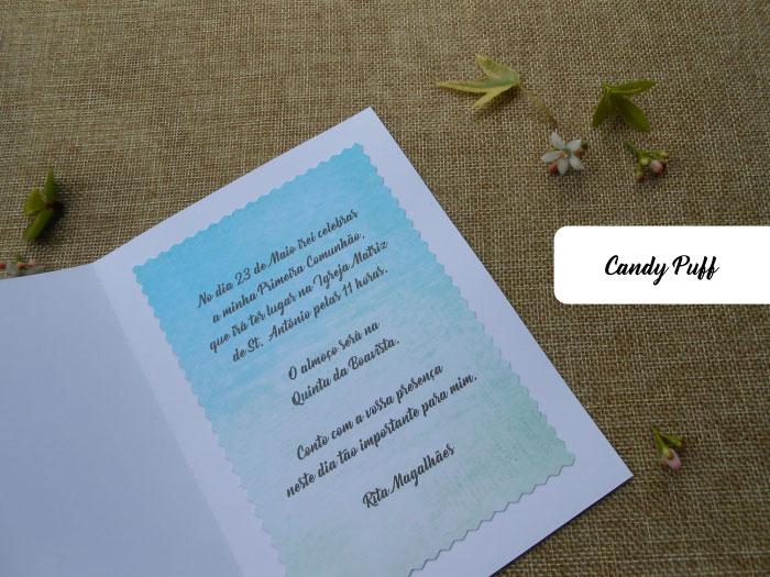 texto de convite de primeira comunhão