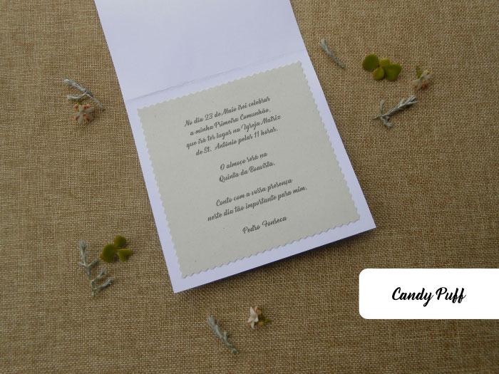 Texto do convite cálice para primeira comunhão