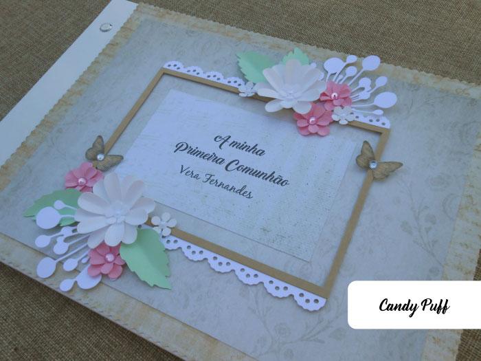 Livro de honra original e personalizado para a comunhão de menina