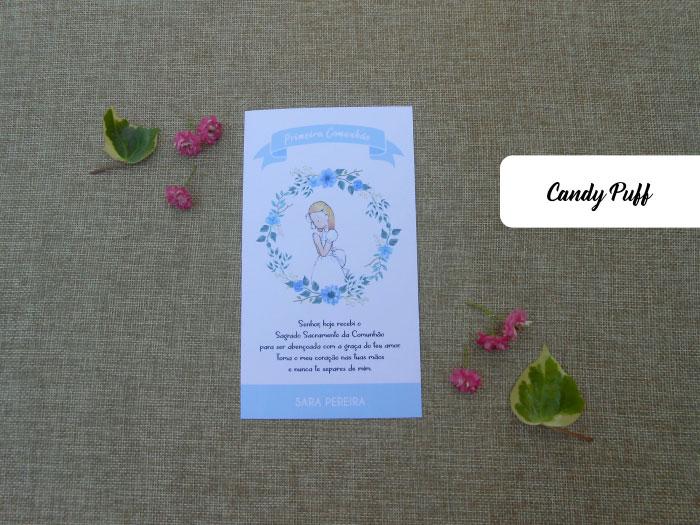 Pagelas de Comunhão com Grinalda Floral