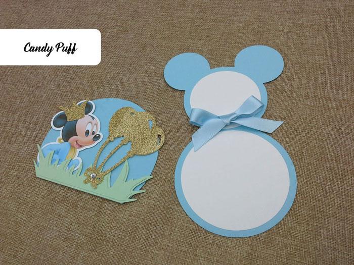 Convite de Aniversário Mickey Baby