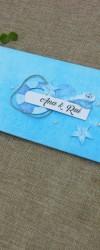 convite de casamento mar