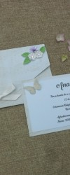 convite delicate flowers