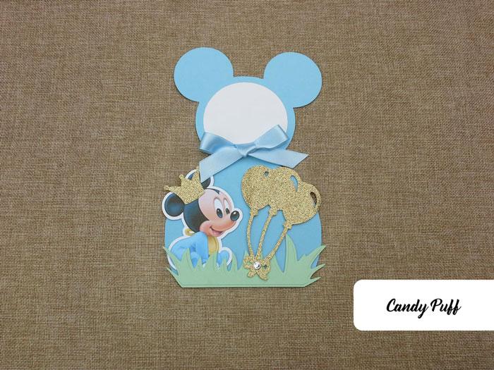 Convite Mickey Bebé