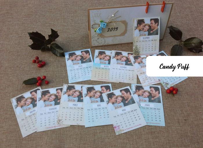 calendário de 2019 personalizado com fotografias e datas de aniversário