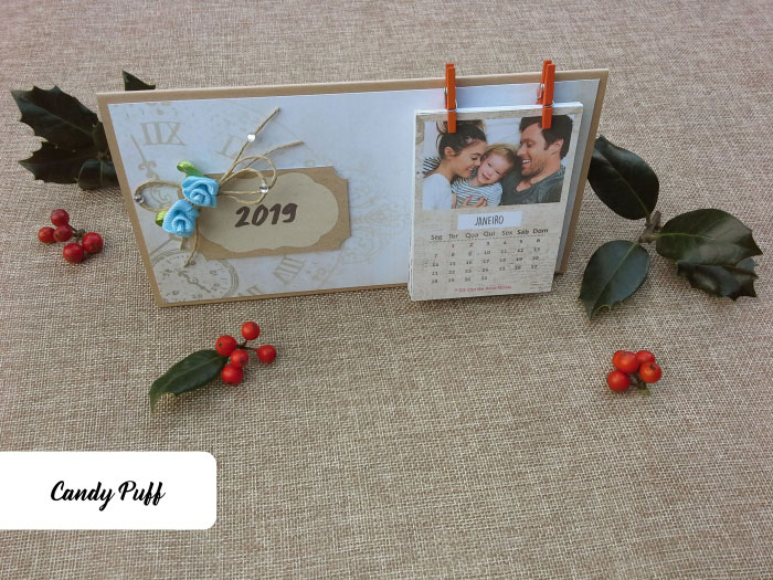 Calendário Personalizado para Presente de Natal Original
