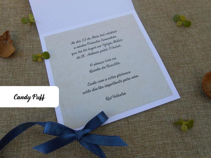 Texto convite para primeira comunhão