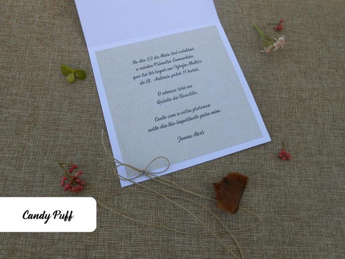 Texto de Convites Comunhão Menina