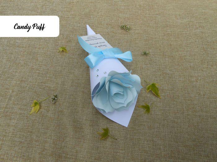 Bouquet com Rosa de Papel Azul