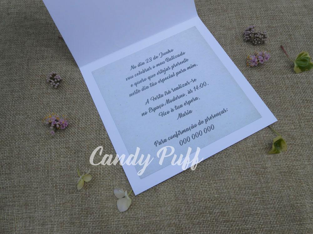 texto convite batizado floral