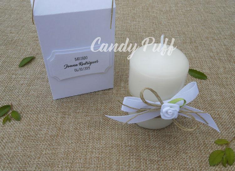 Vela Floral Branca