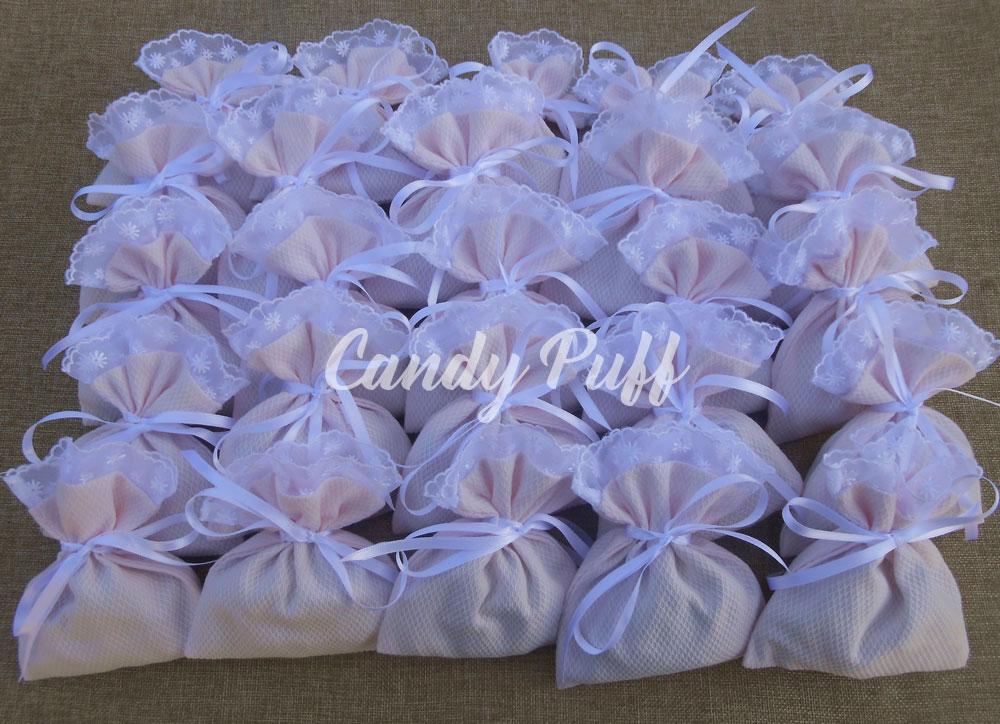 lembranças de batizado sacos perfumados