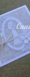 convite comunhão floral